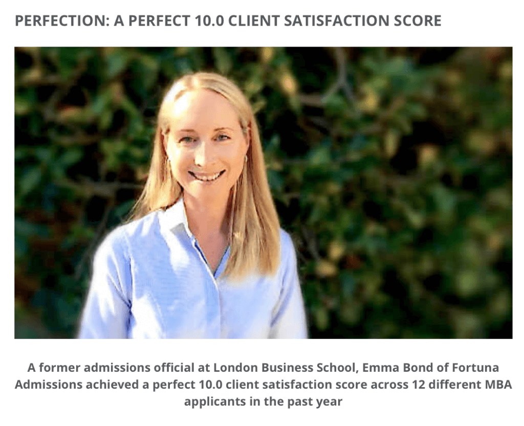 Emma Bond Best MBA Admissions Consultants