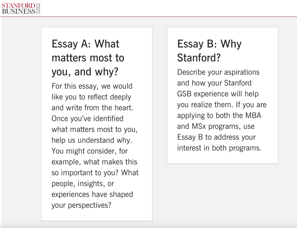 why stanford essay prompt