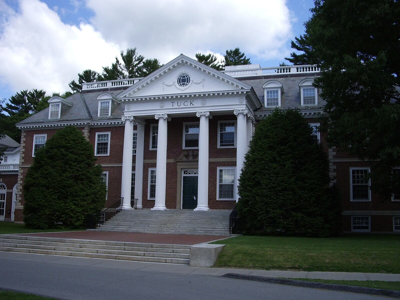 Tuck School of Business at the campus of Dartmouth College in Hanover, NH